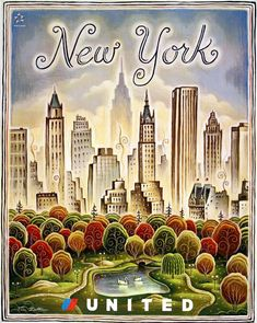 Vintage New York. Scan your old posters and photos with Pic Scanner app for iPhone and iPad. Download here, free                                                                                                                                                      More #vintageposters