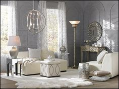 traditional glam living room - too glam for living room but I like certain aspects for the master bedroom and/or master closet