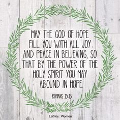 May the GOD of hope fill you to the brim and pouring over onto all those around you today christyrawls.com
