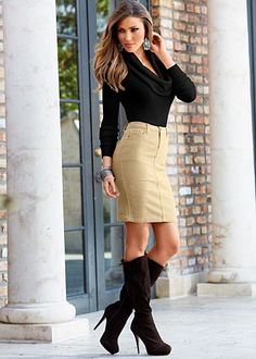 Love boots and they just make this outfit!