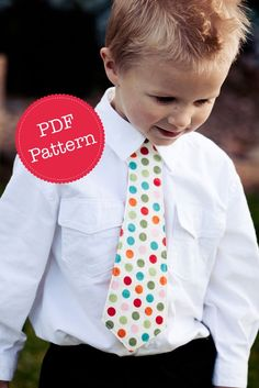 PDF Sewing Pattern for Little Lads' Necktie, Skinny Tie and Wide Tie Styles Included, Make and Sell, DIY, Sewing Patterns by Angel Lea Designs