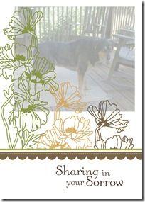 Pet sympathy card (hybrid project)