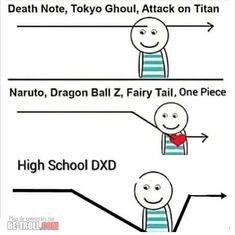 Attack on Titan lã Naruto. One Piece High School DXD - iFunny :) Manga Anime, Anime Meme, Otaku Anime, Tokyo Ghoul Fan Art, Tokyo Ghoul Manga, Image Hilarante, Videos Anime, Video Humour, Tokyo Ghoul Cosplay