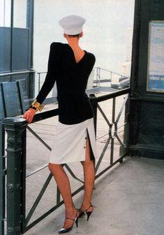Valentino Boutique, Valentino Couture, Valentino Garavani, White Fashion, 80s Fashion, Vintage Fashion, Helmut Newton, Very Valentino, Gamine Style