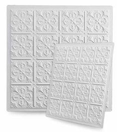Pretty Ceiling Tiles - Fleur-de-lis Tiles