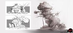 """Design exploration set A """"witch hut"""""""