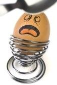 Egg Cup Humor/Stress Relief...Just draw on faces of those who irk you.