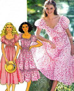 1970s Dress Pattern McCalls 6121 Laura Ashley Puff by paneenjerez, $12.00
