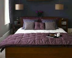 Bedroom •~• plum & indigo