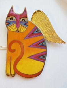 Laurel Burch Fantastic Angeli-Cats SYLVIA Bradford Editions Ceramic Ornament