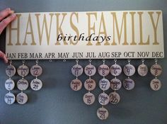 Personalized Birthday Board by DoodlesDotsDoodads on Etsy