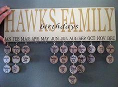 Cute birthday calendar