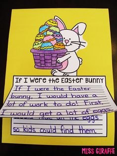 If I Were the Easter Bunny writing prompt and other fun Easter writing activities - there are a ton of ideas on this post for Spring learning in science, writing, and math!