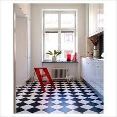 Black And White Kitchen Vinyl Flooring tarknett luxury vinyl tile, permastone lvt, gflsd101 (white