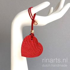 Red Heart bag charm