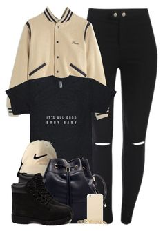 A fashion look from November 2015 by cheerstostyle featuring Madewell, Timberland, Kendra Scott, Kate Spade and Nike Golf Timbs Outfits, Swag Outfits, Dope Outfits, Casual Outfits, Timberlands, Golf Fashion, Teen Fashion, Fashion Outfits, Fashion Women