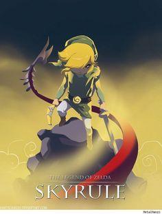 Skyrule - The Legend of Zelda / Skyrim mash-up by MetalHanzo