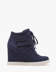Quilted wedge ankle boots - Stradivarius