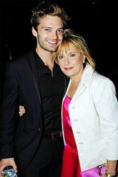 Sebastian Stan with his mother at the NY Salvatore Ferragamo Attimo Launch Event (2010)