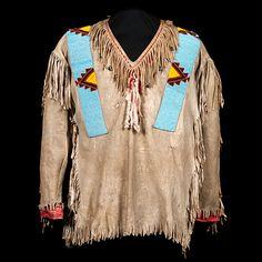 Assiniboine Beaded Hide War Shirt