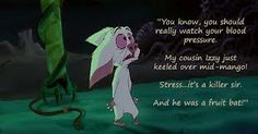 Bartok - the world's most quotable bat. Possibly even the world's most quotable cartoon character