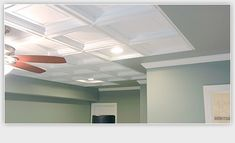 Another Drop Ceiling Tile Option Decor Beams Tiles Office