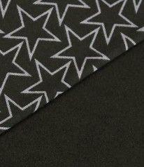 SWEAT DRUCK Sterne Grau auf Schwarz