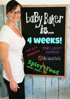 4 weeks Pregnant with Twins - Pregnancy Chalkbaord