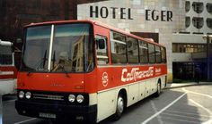 Soviet СОВТРАНСАВТО Ikarus tourist bus 00 05 BEE (SU) back in Hungary, Hotel Eger, Eger. May 1988 Busses, Public Transport, Hungary, Cars And Motorcycles, Transportation, Vehicles, Coaches, Bee, Jokes
