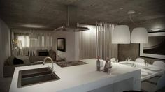 Open Space : 인더스트리얼 주방 by Santiago | Interior Design Studio