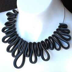 Rubber Squiggly Necklace