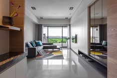 The Sunshine House of Two Sisters 01 850x567 HOZO Interior Design Creates a Contemporary Home in Taipei, Taiwan
