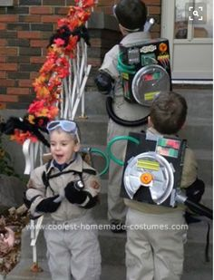 I made these homemade Ghostbusters and StayPuft Marshmallow Man costumes for my husband and three sons. The Ghostbusters were easy to put together, althoug Boy Costumes, Halloween Kostüm, Family Halloween, Holidays Halloween, Halloween Costumes For Kids, Costume Ideas, Ghost Busters Costume Kids, Ghost Costume Kids, Crafts