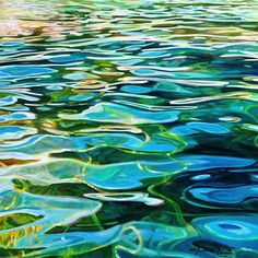 Artist Michelle Courier has been painting with acrylics since she started painting in college at the University of Michi Abstract Landscape, Landscape Paintings, Abstract Art, Painting Inspiration, Art Inspo, Water Patterns, Water Ripples, Water Reflections, Watercolor Paintings