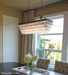 this is it for dining room! antique silver 6-light rectangular