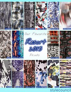 Style Council Blog - Favorite Prints From Resort 15