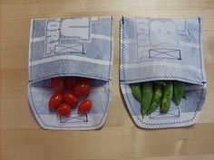 How to Make Your Own Reusable Snack & Sandwich Bags (from plastic grocery bags!)    www.the-red-kitchen.com