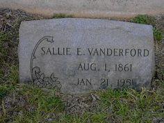 Sallie E <i>Estes</i> Vanderford Wesley Chapel, Find A Grave, Ancestry, Sally