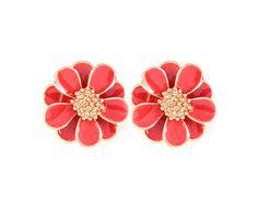 Anemone Earrings in Poppy on Emma Stine Limited