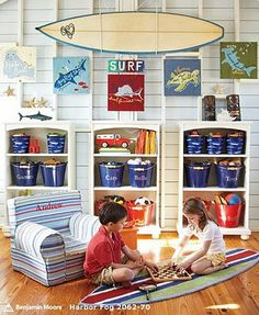 Pass the Cereal: Playroom Storage