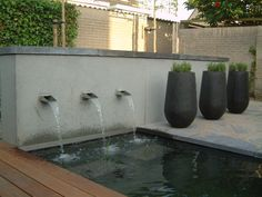 water feature in a small garden