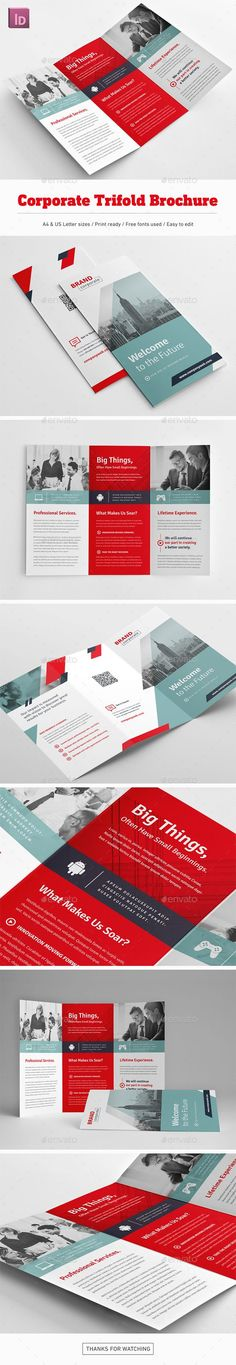 Corporate Trifold Brochure - Corporate Brochures Download here : https://graphicriver.net/item/corporate-trifold-brochure/19633765?s_rank=138&ref=Al-fatih