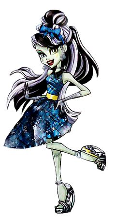 All about Monster High: Frankie Stein. Welcome to Monster High. NEW Profile art