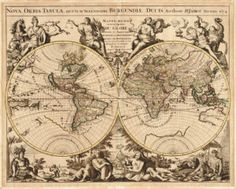 Antique Maps of the World - Vintage Maps of the World - Old World Maps