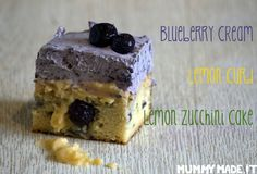 This Lemon Blueberry Poke Cake is Gluten Free, Dairy Free, Paleo, Nut Free and Refiend Sugar Free. It has a layer of lemon curd with blueberry frosting.