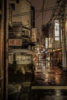 Shimbashi Minato ku tokyo rain japan