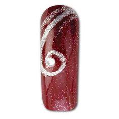 Silver swirls nail art-2