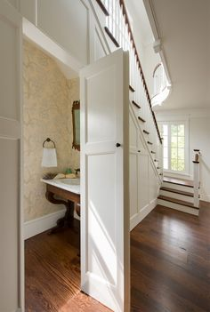 Under-the-stairs bathroom
