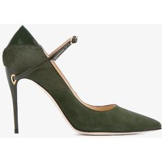 Jennifer Chamandi Jennifer Chamandi 'Lorenzo' Suede And Pony Skin... (1,315 BAM) ❤ liked on Polyvore featuring shoes, pumps, heels, suede pointed toe pumps, high heeled footwear, olive green shoes, pointed toe pumps and pointed toe shoes