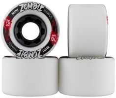 Landyachtz Zombie Hawgs Mini 70mm 80a White Longboard Skateboard Wheels (Set of 4 Wheels) by Landyachtz. $49.95. The Mini Zombie was developed for 2012 as our line up expanded and the need for a smaller freeride wheel was born.  Now, all the boards that can't confidently host a 76mm wheel have the opportunity to house a quality freeride formula, allowing you to slide in every direction until you just can't walk yourself up the hill anymore.  Available in 3 duro...